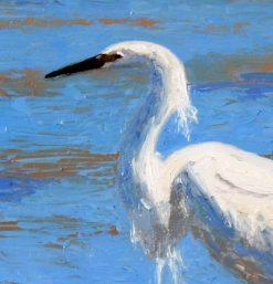 Egret 2, detail 1, by Susan Sternau