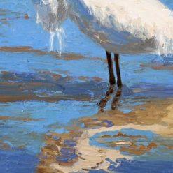 Egret 2, detail 2 by Susan Sternau