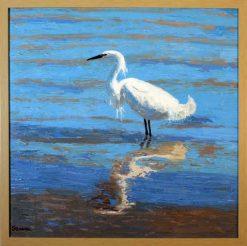 Egret 2, framed, by Susan Sternau