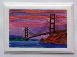 Golden Gate Sunset Card in Sleeve, by Susan Sternau