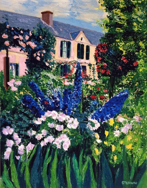 Monet's House and Garden, giclee print by Susan Sternau