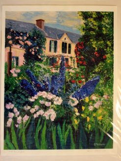 Monet's House and Garden, giclee print front