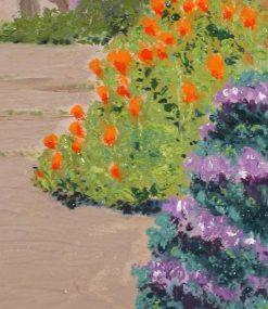 Napa Street View,detail 2, by Susan Sternau
