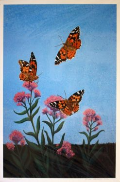 Painted Ladies Butterflies, giclee print front