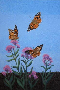 Painted Ladies butterflies, giclee print by Susan Sternau