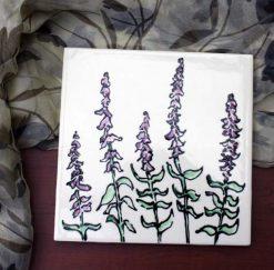 Purple Sage Tile, styled, by Susan Sternau
