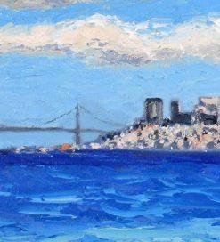 San Francisco Panorama, detail 2 by Susan Sternau