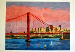 San Francisco with Golden Gate, giclee print front