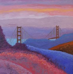 Sunset at Golden Gate, giclee print by Susan Sternau