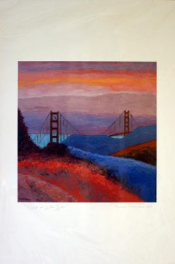 Sunset at Golden Gate, giclee print front