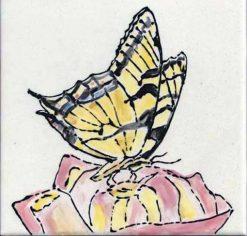 Tiger Swallowtail tile by Susan Sternau