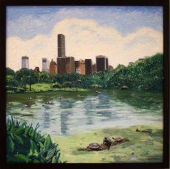 central-park-oil-by-susan-sternau-framed