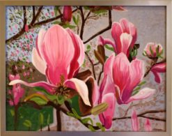 magnolias-oil-by-susan-sternau-framed
