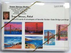 Golden Gate Bridge Card Box, back, by Susan Sternau